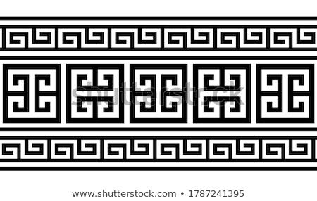 görög · cserépedények · keret · művészet · kék · klasszikus - stock fotó © mirc3a