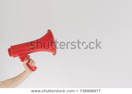 Businessman yelling into a megaphone Stock photo © photography33