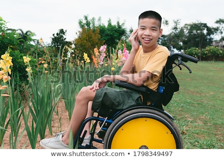 boy and adult in garden Stock photo © photography33