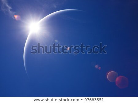 eclipse blue   lunar sunrise stock photo © axstokes