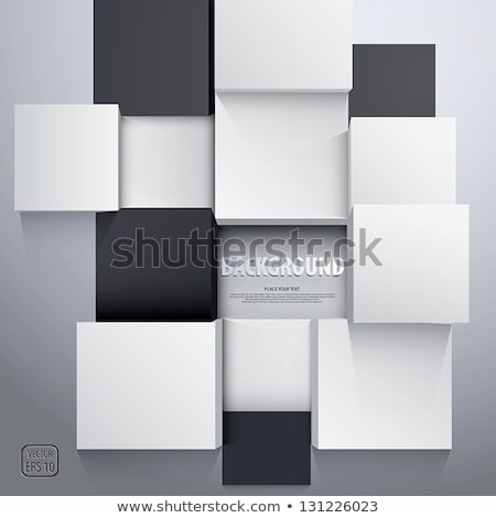 abstract 3d cubes backdrop in green and blue Stock photo © Melvin07