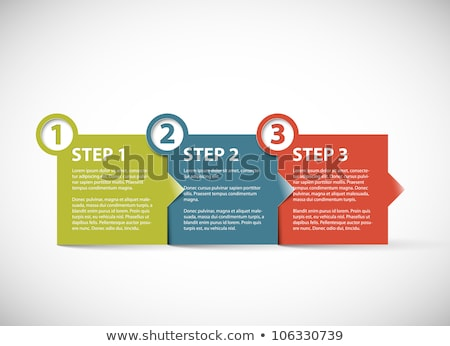 One two three - vector paper retro steps Stock photo © orson