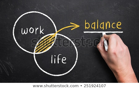 balance of health and career drawn with chalk stock photo © bbbar