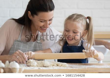 jonge · bakker · brood · brood · Maakt · een · reservekopie · huid - stockfoto © photography33