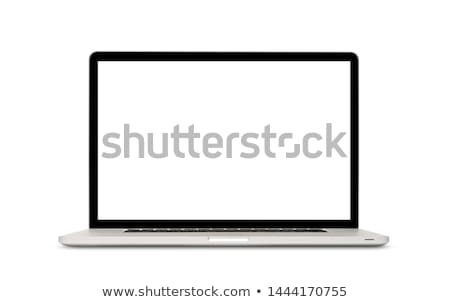 laptop · isolado · branco · exibir · ver - foto stock © tuulijumala