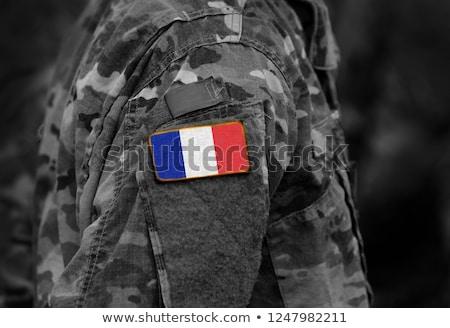 exército · França · quadro · guerra · serviço · silhueta - foto stock © perysty