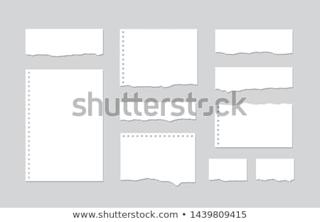 Old torn notepaper page isolated black background. Stock photo © latent