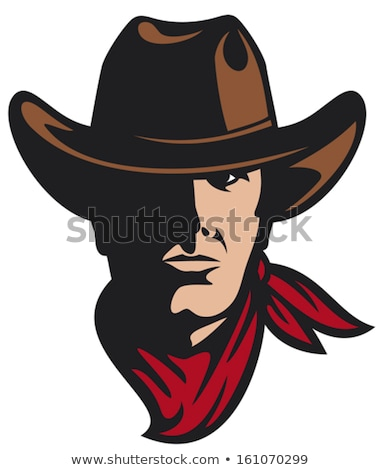 Cowboy Mascot with Hat and Bandanna Stock photo © chromaco