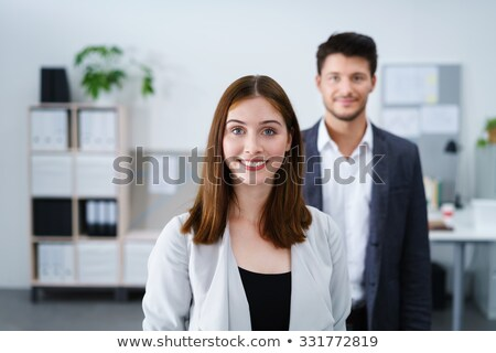 Woman stood in office Stock photo © photography33