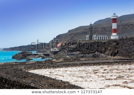 La Palma lava stone fence column in Fuencaliente Stock photo © lunamarina
