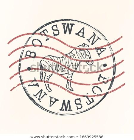 Posta Botswana kép bélyeg térkép zászló Stock fotó © perysty