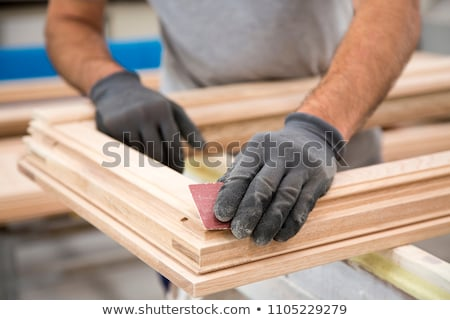 carpenter at work with window frame stock photo © photography33