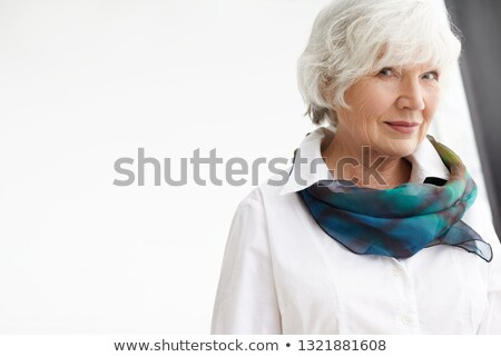 Portre çekici işkadını beyaz eşarp Stok fotoğraf © wavebreak_media