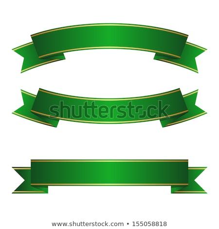 лента зеленый лук Рождества украшение Сток-фото © rmarinello