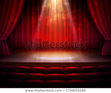 Rood · theater · frans · klassiek · fluwelen · zitting - stockfoto © smithore
