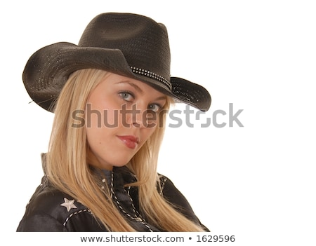 Young woman dressed as a cowboy Stock photo © acidgrey