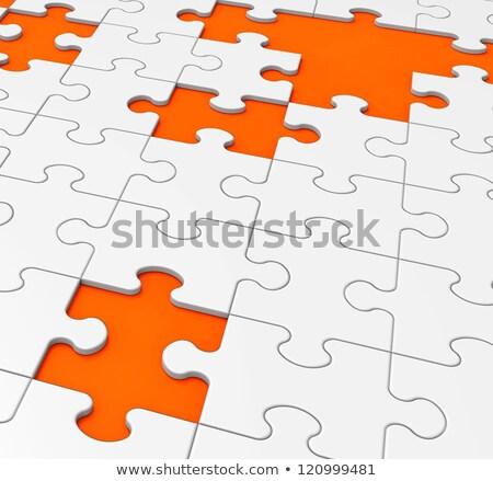 Unfinished Puzzle Shows Last Pieces Stock photo © stuartmiles