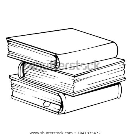 три книгах изолированный белый бумаги книга Сток-фото © a2bb5s