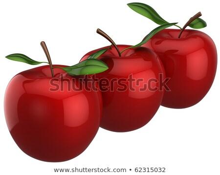 Gêmeo maçãs 3D branco tabela azul Foto stock © ankarb