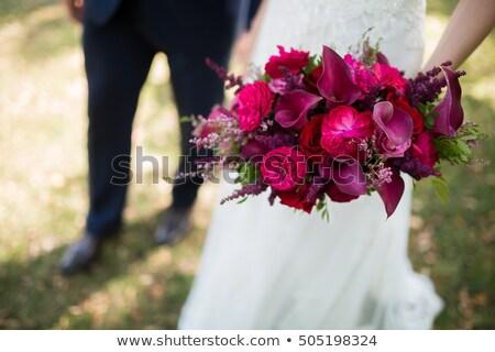 Casamento buquê noivas mão flores mãos Foto stock © samsem