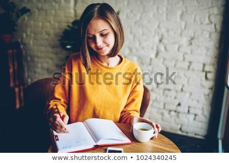 ragazza · iscritto · futuro · business · suit · parola - foto d'archivio © a2bb5s