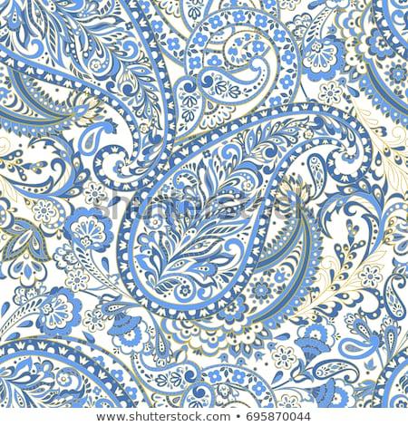 красочный бесшовный аннотация синий Vintage шаблон Сток-фото © juliakuz