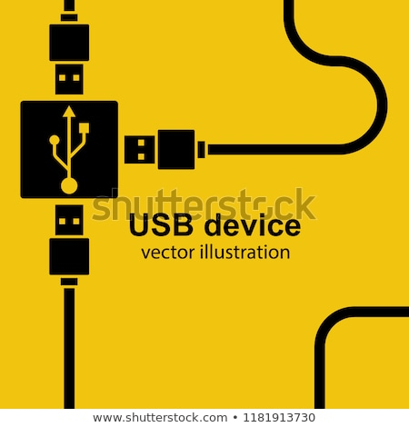 Stock photo: usb connection with hub