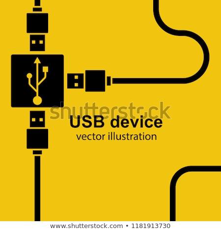 usb · 接続 · ポート · コンピュータ · ノートパソコン · キー - ストックフォト © compuinfoto