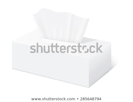 papírzsebkendő · doboz · izolált · fehér · fürdőszoba · textil - stock fotó © ozaiachin