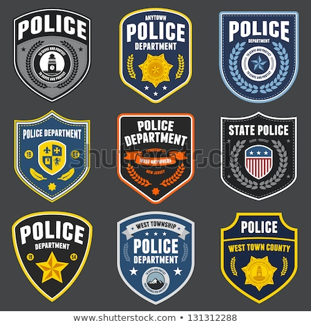 Police patches Stock photo © mikemcd