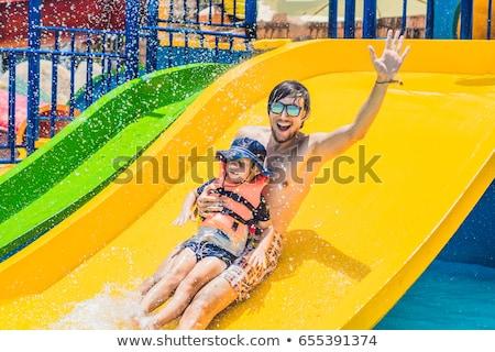 Tubulação excitação adolescente barco Foto stock © mikecharles