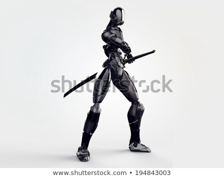 o · homem · 3d · ninja · esportes · corpo · fitness - foto stock © digitalgenetics