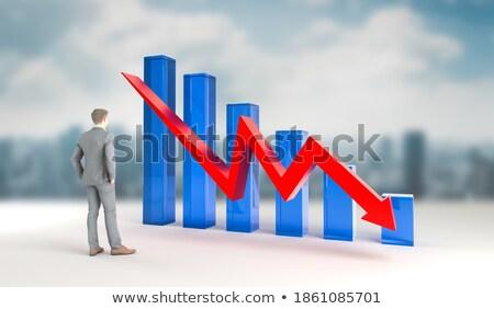 Foto stock: Ilustração · 3d · negócio · idéias · banco · falha · assinar