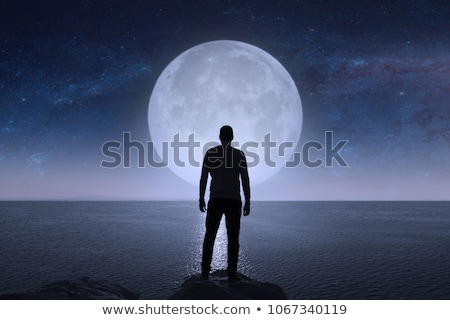 Depressed young man standing Stock photo © luckyraccoon