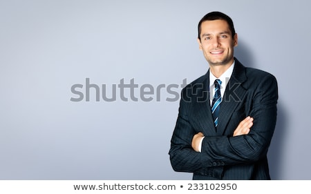 Black business suit with a tie and copyspace background Stock photo © HASLOO