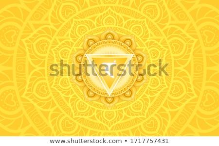 Vetor solar chakra água laranja padrão Foto stock © rioillustrator