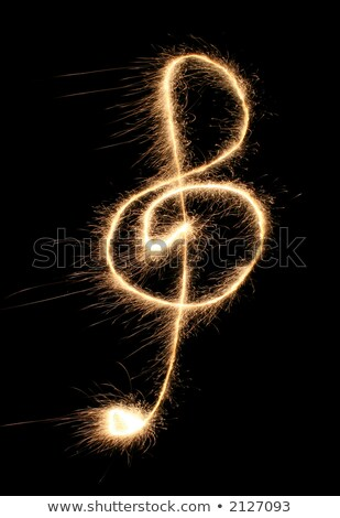violin clef sparkler Stock photo © Paha_L