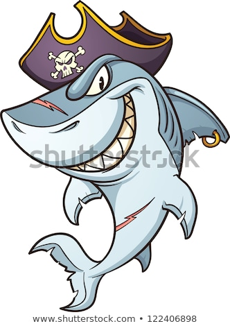 Cartoon pirate shark Stock photo © clairev