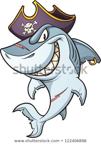 cartoon pirate shark stock photo © clairev