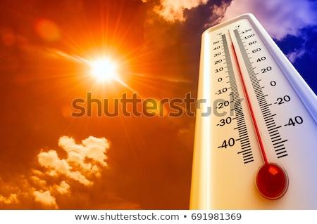 Wysoki temperatura termometr sztuki oświetlenie medycznych Zdjęcia stock © grechka333