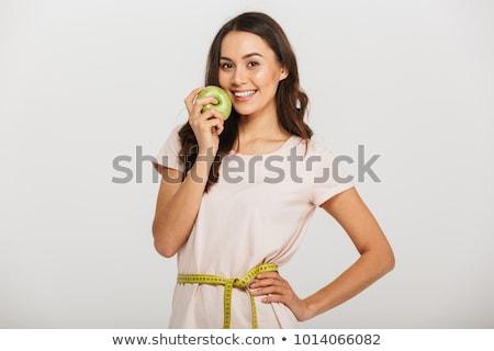 соответствовать яблоко талия женщину Сток-фото © bigjohn36