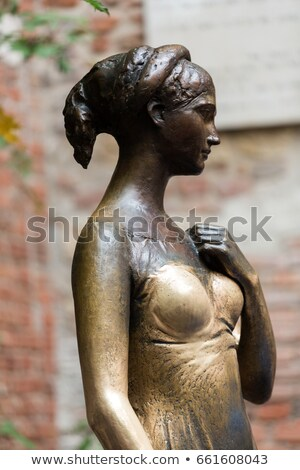 Statue of Juliet Capulet in Her House Backyard in Verona, Veneto Stock photo © anshar