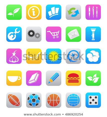 various ios 7 style mobile app icons Stock photo © cidepix