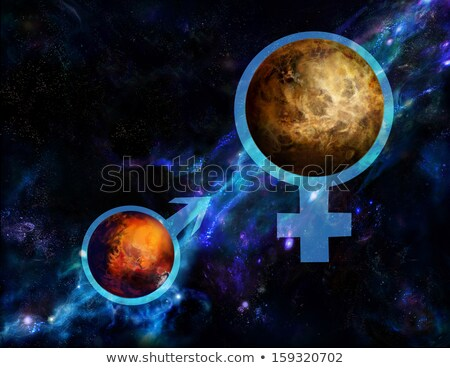 Mars and Venus fire symbols.  Stock photo © dvarg