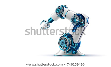 Robot bras industrielle travaux technologie industrie Photo stock © wellphoto