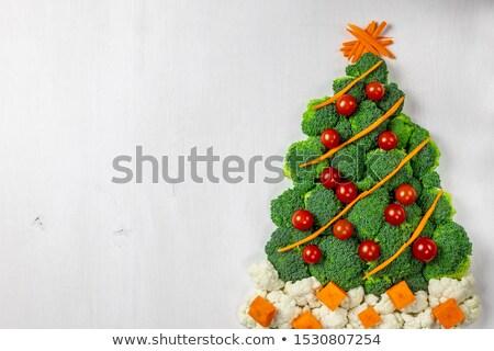 Stockfoto: Kerstboom · groenten · voedsel · abstract · achtergrond · tomaat