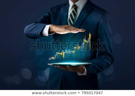 zakelijke · grafiek · groei · hemel · business · geïsoleerd · witte - stockfoto © lightsource