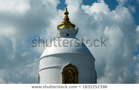 Beyaz budist tapınak güzel seyahat kale Stok fotoğraf © ssuaphoto
