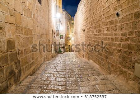 Keskeny utca öreg város Jeruzsálem Izrael Stock fotó © AndreyKr