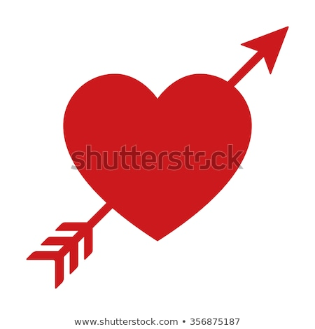 Simbólico coração seta ilustração vermelho branco Foto stock © brux